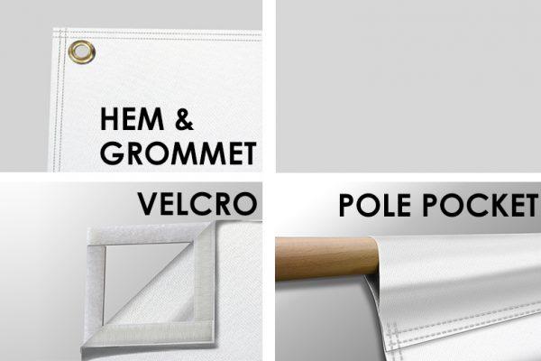 fabric banner finishing options
