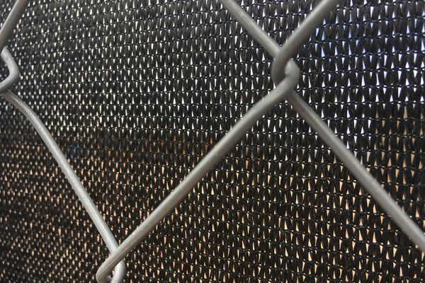mesh banners for construction zones closeup