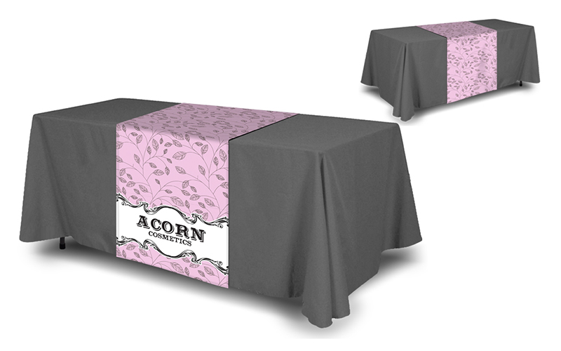 table runner for trade show displays
