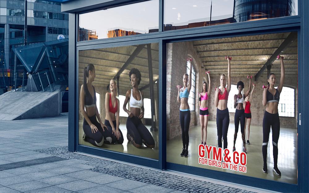 gym windows custom printing
